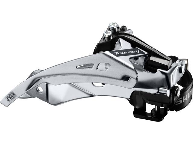 Shimano Tourney FD-TY710 Forskifter Klemme Top Swing 63-66° 7/8-speed sort/sølv